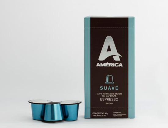 Capsulas Compatíveis Nespresso Café America Aroma Suave